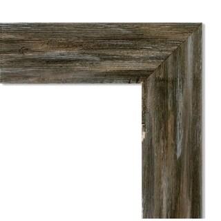 Framed Grey Cork Board, Fencepost Brown Narrow