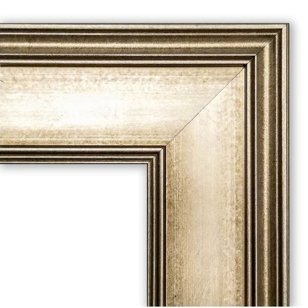 Framed Grey Cork Board, Mezzanine Antique Silver Narrow