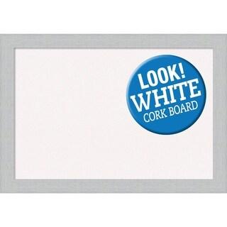 Framed White Cork Board, Shiplap White
