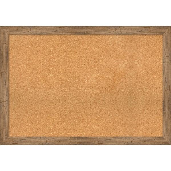 Framed Cork Board, Owl Brown Narrow