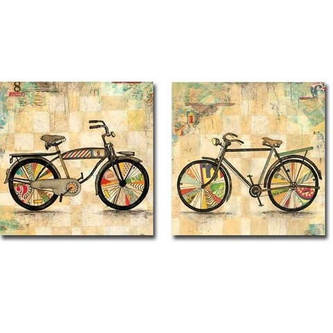 Ride 1 and 2 by Jennifer Wagner 2-piece Gallery Wrapped Canvas Giclee Art Set (Ready to Hang)