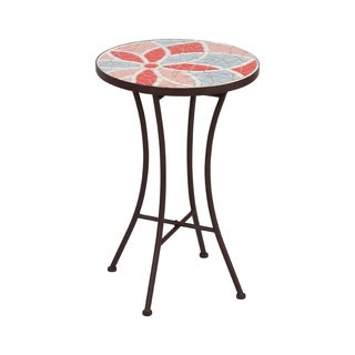 Mosaic Side Table-- Floral Pattern