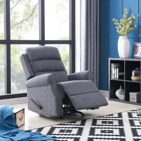 Copper Grove Gerards Grey Woven Rocker Recliner Chair