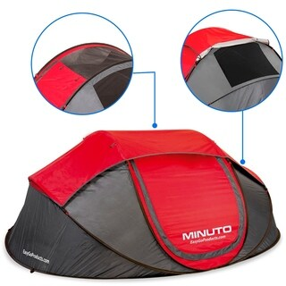 MINUTO Camping Tent Instant Cabin Pop Up Dome Tent Waterproof Tents