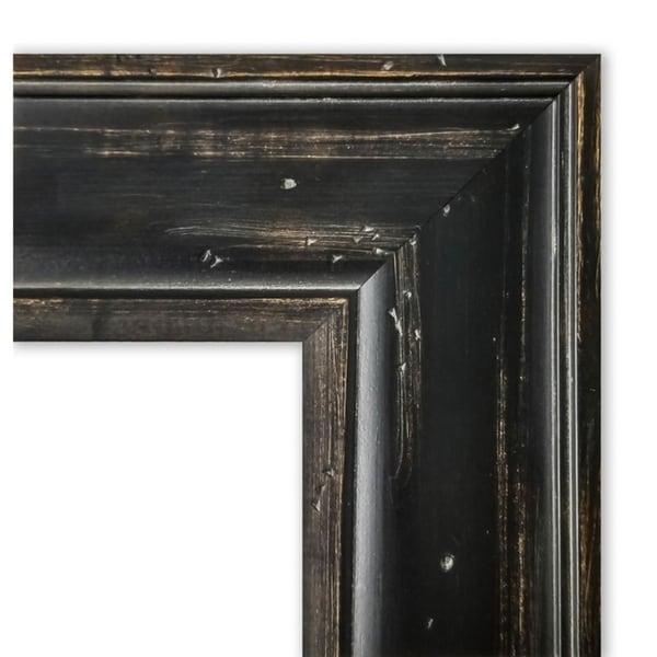 Framed Black Cork Board, Rustic Pine Black