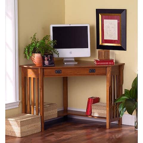 Porch & Den Crescent Mission-style Corner Desk