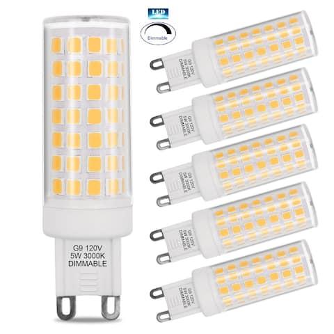 Artiva USA 5W G9 Dimmable LED light bulb (set of 6)) - White