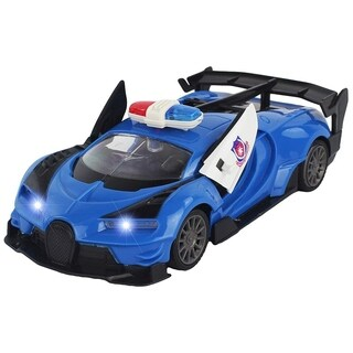 Scale 1:20 Remote Control RC Police Car Supercar w/ Door Opening Action and Working Headlights