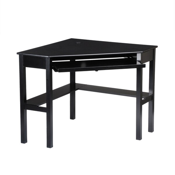Black Table Desk Part - 36: Harper Blvd Black Corner Desk - Free Shipping Today - Overstock.com -  10639245
