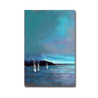 Sailing in the Bay by Amanda Houston Gallery Wrapped Canvas Giclee Art (36 in x 24 in, Ready to Hang)