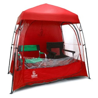 CoverU Sports Shelter - Red 2-Person Weather Tent Pod
