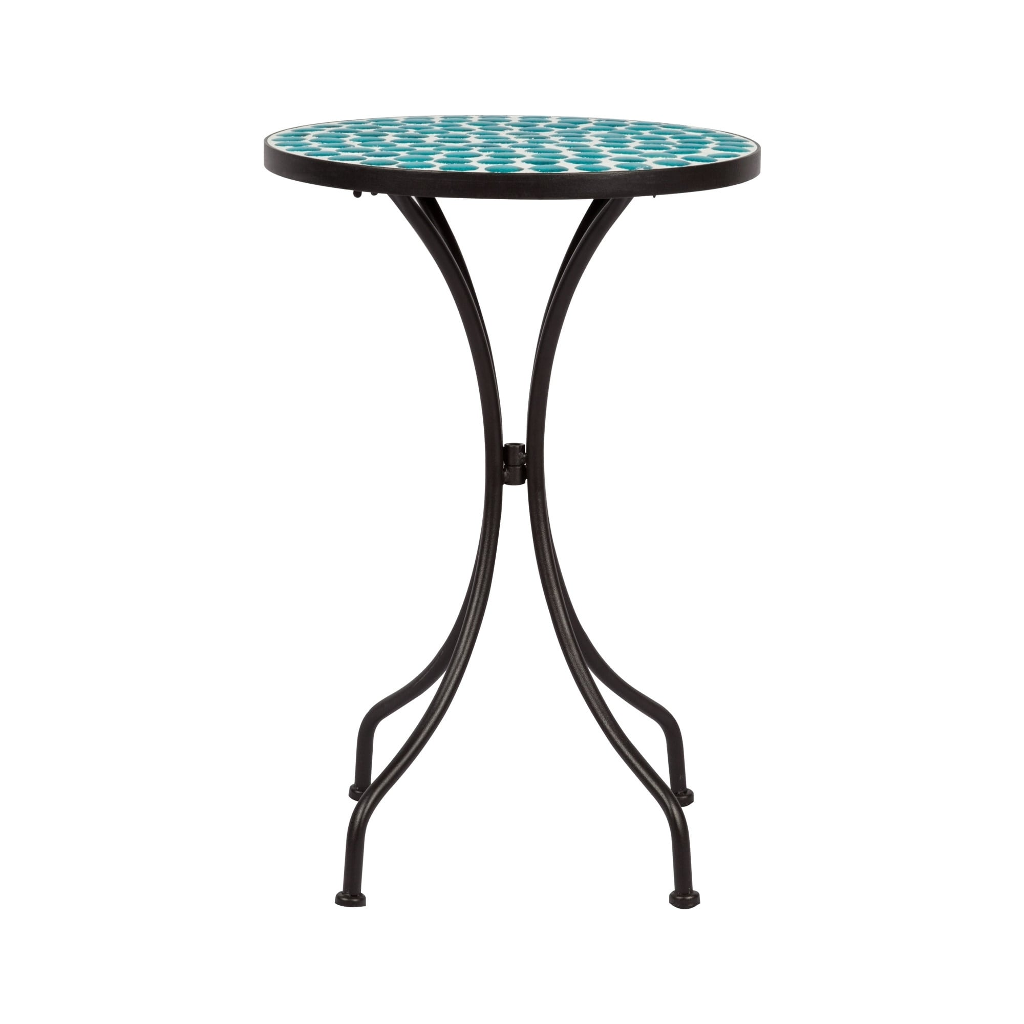 Mosaic Side Table Green Polka