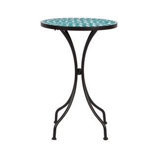 Mosaic Side Table--Green Polka Dots