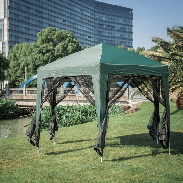 Shop Kinbor 11 8 X 10 2 Hexagon Outdoor Gazebo Portable
