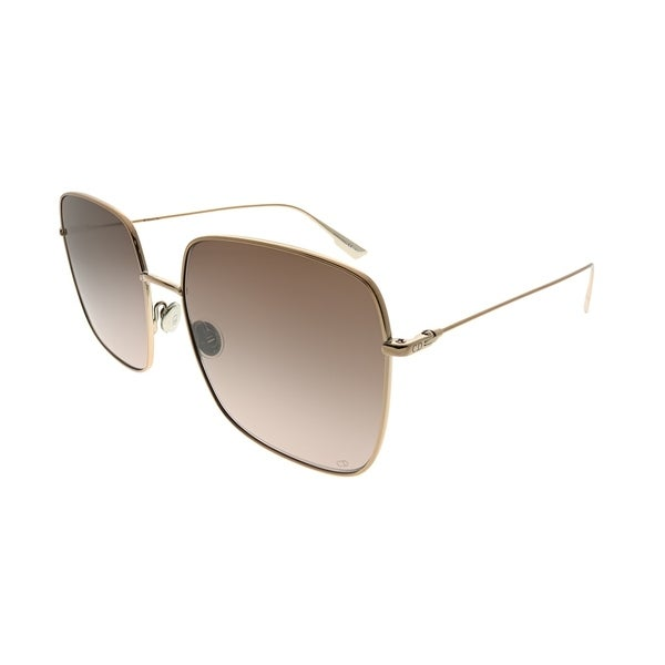 ed34fde9fd Dior Square DiorStellaire 1 HAM 86 Women Champagne Frame Brown Graident  Lens Sunglasses