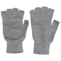 Winter Fingerless Gloves with Flap Cover Mitten Gloves