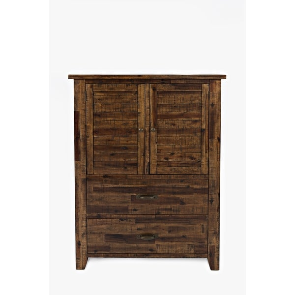 Transitional Style Spacious Wooden Chest, Brown