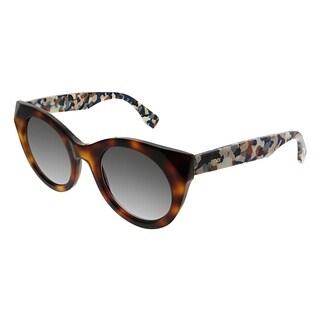 Fendi Cat-Eye FF 0203/F Fendi Chromia 8MV EU Women Havana Frame Grey Gradient Lens Sunglasses