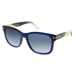 Tom Ford Rectangle FT 0395 Cooper 89W Unisex Blue Frame Blue Gradient Lens Sunglasses