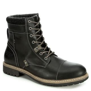 Restoration Mens Brody Lace Up Ankle Boot Shoes, Black