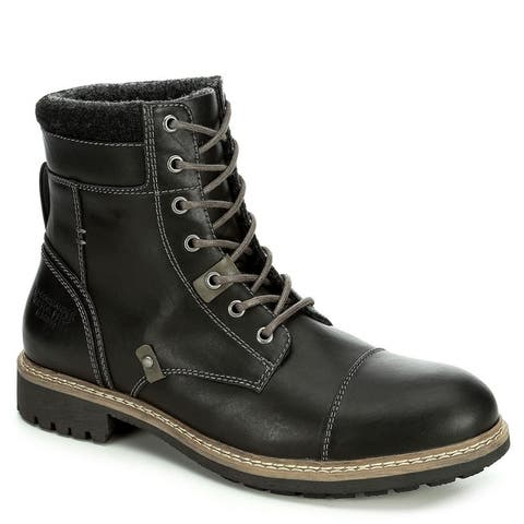 Restoration Mens Brody Lace Up Ankle Boot Shoes Black