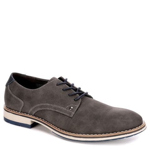 Varese Mens Dillan Lace Up Oxford Shoes, Grey