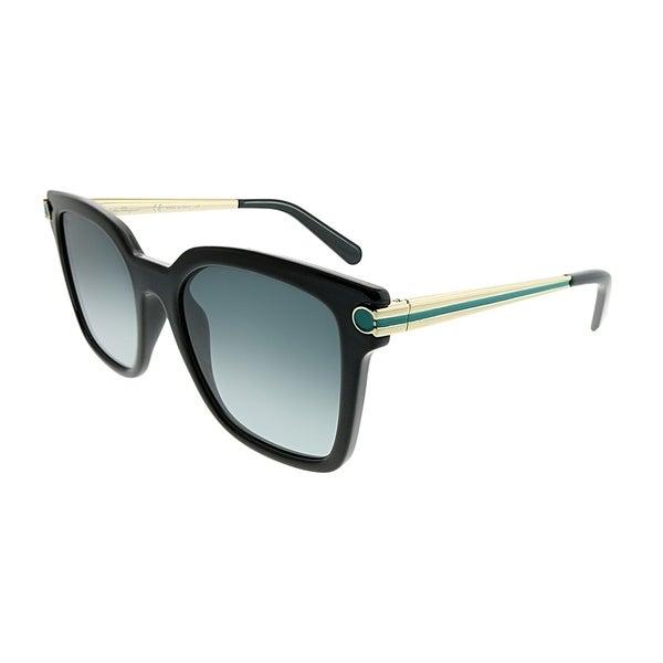 19b0b7df9c1 Salvatore Ferragamo Square SF 832S 001 Women Shiny Black Frame Grey  Gradient Lens Sunglasses. Click to Zoom