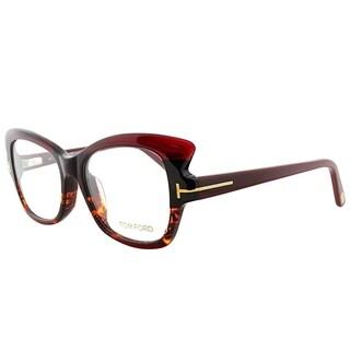 Tom Ford Cat-Eye FT 4268 020 Women Burgundy Havana Frame Eyeglasses