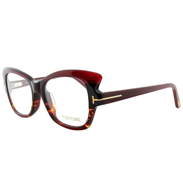 7fd35c9da003 Tom Ford Cat-Eye FT 4268 020 Women Burgundy Havana Frame Eyeglasses