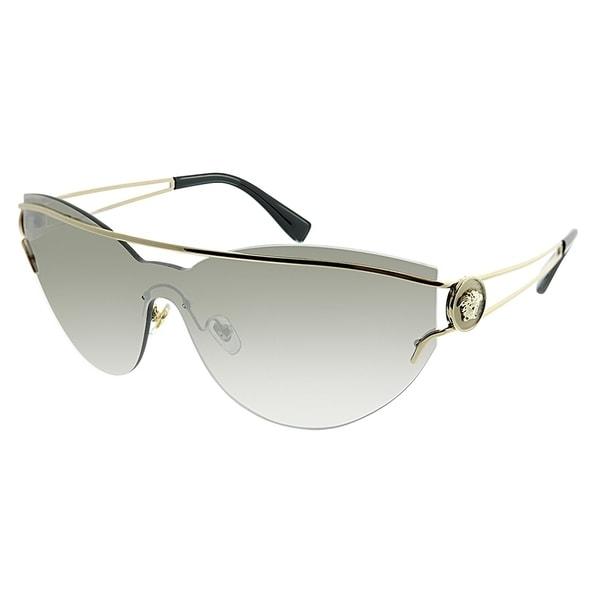 e58b8591de Versace Cat-Eye VE 2186 The Versace Manifesto 12526G Women Pale Gold Frame  Silver Mirror