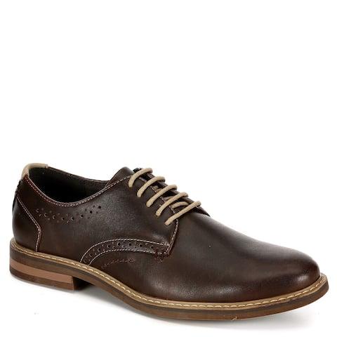 Restoration Mens Preston Lace Up Oxford Shoes, Brown