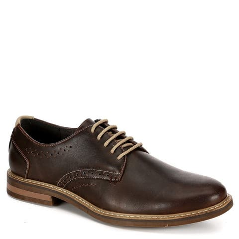 Restoration Mens Preston Lace Up Oxford Shoes, Brown