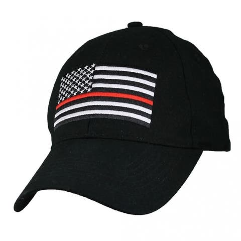 US American Flag Fire Department Thin Red Line Military Ball Cap