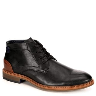 Restoration Mens Wayne Leather Chukka Ankle Boot Shoes, Black