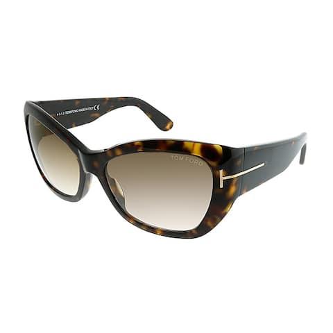 57969fa283ccd Tom Ford Cat-Eye FT 0460 Corinne 52G Women Havana Frame Brown Gradient Lens  Sunglasses