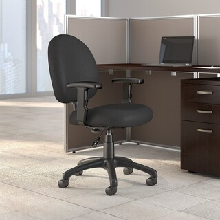 Bush Business Furniture Accord Task Chair with Arms in Black Fabric