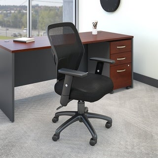 Bush Business Furniture Accord Mesh Back Office Chair in Black