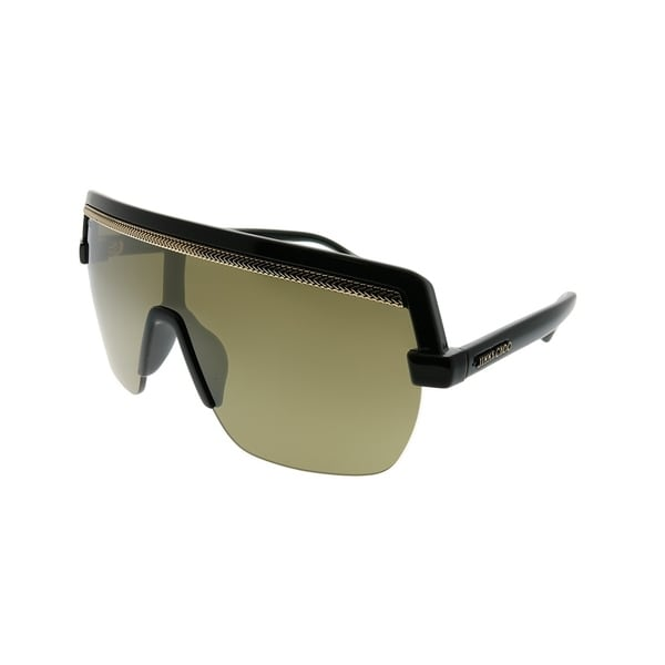 cbaef6cf35081 Jimmy Choo Shield Pose S 807 VP Women Black Frame Gold Mirror Lens  Sunglasses