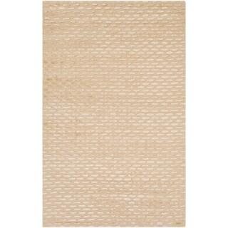 Hand-tufted Solid Towallum Wool Area Rug - 8' x 11'