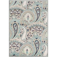 """Cabrits Contemporary Floral Paisley Area Rug - 7'6"""" x 10'6"""""""