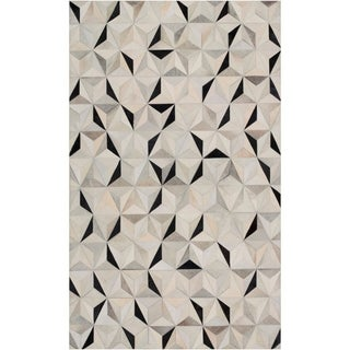 Handmade Evan Animal Pattern Leather Area Rug - 9' x 12'