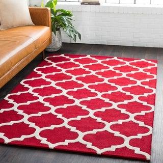 Hand-Tufted Till Moroccan Trellis Wool Rug - 9' x 13'