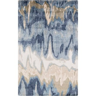 Hand-tufted Gabriel Abstract Banana Silk Area Rug - 9' x 13'