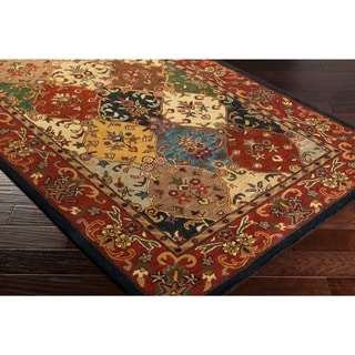 Hand-Tufted Mollie Traditional Border Area Rug - 9' x 13'