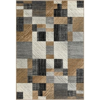 """Woven Colfax Geometric Patches Plush Area Rug - 7'10"""" x 10'10"""""""