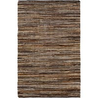 Hand Woven Balbach Leather/Cotton Area Rug - 9' x 12'