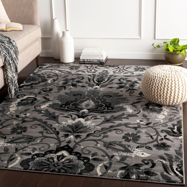 Chino Transitional Damask Area Rug - 10' x 13'