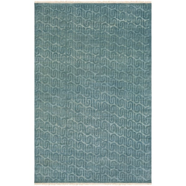Hand-Knotted Isabella Wool Area Rug - 9' x 13'