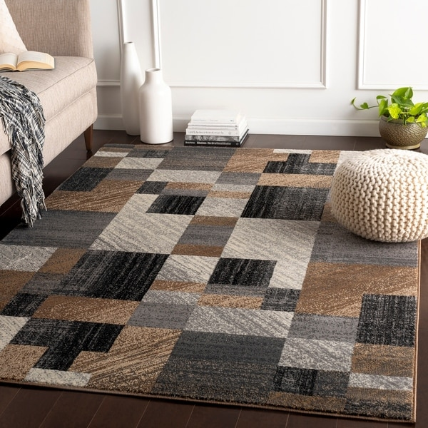 Woven Colfax Geometric Patches Plush Area Rug - 10' x 13'