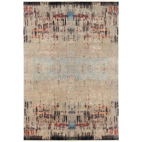 Hand-Knotted Verrona Wool Area Rug - 9' x 13'